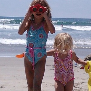 Grandchildren on the beach