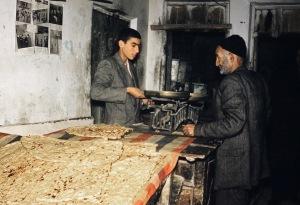 Fresh sangak in Shemran, c. 1955