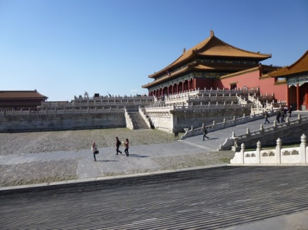 We almost had the Forbidden City to ourselves!