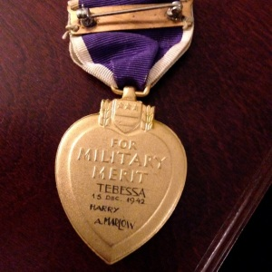 This Purple Heart was awarded in Tabessa, Algeria, in 1942.