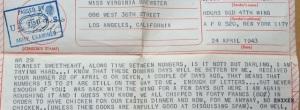 Letter number 29,  sent by V-Mail