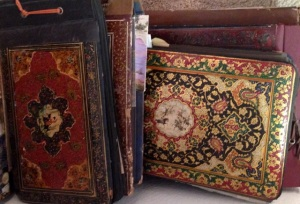 Among all the pictures and letters--beautiful Persian scrapbooks from 60 years ago