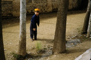 My brother throwing the sabzeh into the water. Shemran, 1955.