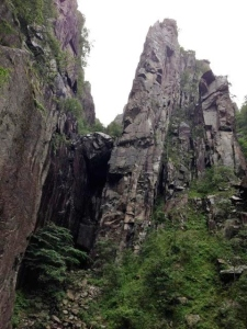 The deep granite crevices of Norway's gorges evoke the hidden throne rooms of legendary mountain kings.